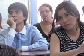 Estudiantes castellano U. de Santiago